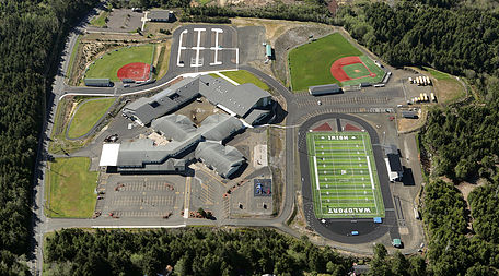 Waldport School aerial view